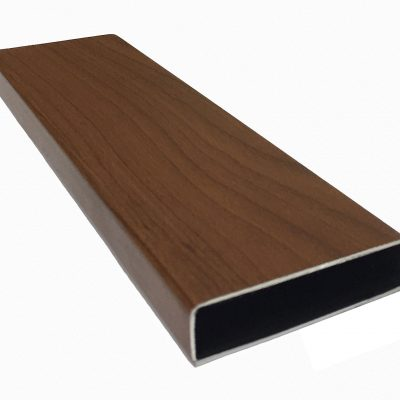 Aluminium Slat Bush Cherry Timber Grain